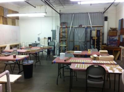 Classroom area of studio