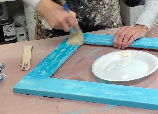 Applying wax with European Wax Brush